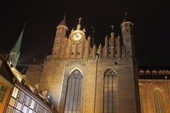 Ayuntamiento en la noche Imagen de archivo libre de regalías