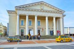 Ayuntamiento en la parte histórica de la ciudad vieja de Vilnus Lithua foto de archivo