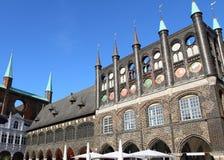 Ayuntamiento en Lubeck Fotos de archivo libres de regalías