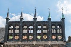 Ayuntamiento en Luebeck, Alemania foto de archivo libre de regalías