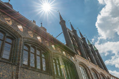 Ayuntamiento en Luebeck, Alemania fotografía de archivo libre de regalías