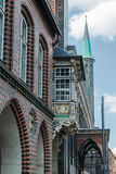 Ayuntamiento en Luebeck, Alemania fotos de archivo