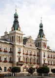 Ayuntamiento en Pardubice Foto de archivo libre de regalías