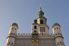 Ayuntamiento en Poznán Foto de archivo libre de regalías