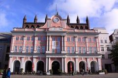 Ayuntamiento en Rostock Fotos de archivo libres de regalías