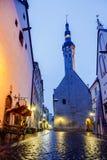 Ayuntamiento en Tallinn, Estonia Imágenes de archivo libres de regalías