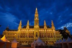 Ayuntamiento en Viena fotografía de archivo libre de regalías