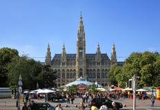 Ayuntamiento en Viena Foto de archivo libre de regalías