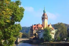 Ayuntamiento en Waldheim Foto de archivo libre de regalías