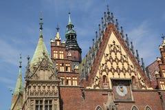 Ayuntamiento en Wroclaw fotografía de archivo libre de regalías