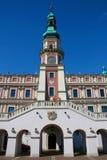 Ayuntamiento en Zamosc Fotografía de archivo
