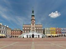 Ayuntamiento en Zamosc Foto de archivo