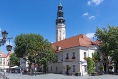 Ayuntamiento en Zielona Gora Fotos de archivo libres de regalías
