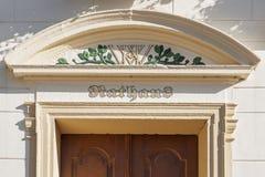 Ayuntamiento Esens con iniciales Imagen de archivo