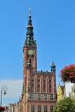 Ayuntamiento Gdansk Imagen de archivo libre de regalías