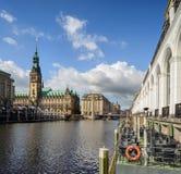 Ayuntamiento Hamburgo imagen de archivo