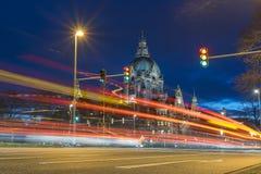 Ayuntamiento Hannover en la tarde foto de archivo libre de regalías