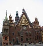 Ayuntamiento histórico de Wroclaw en Polonia Imágenes de archivo libres de regalías