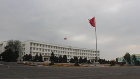 Ayuntamiento, Kirguistán Osh almacen de metraje de vídeo