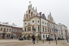 Ayuntamiento la Navidad en Rzeszow, Polonia Fotos de archivo libres de regalías