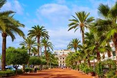 Ayuntamiento Lloret De Mar przy Verdaguer passeig Obraz Royalty Free