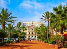 Ayuntamiento Lloret de Mar an Verdaguer-passeig Stockfoto