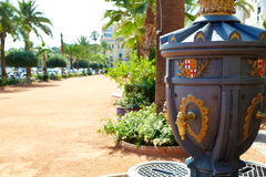 Ayuntamiento Lloret de Mar at Verdaguer passeig. Promenade City Hall Costa Brava of Catalonia Spain Stock Photos