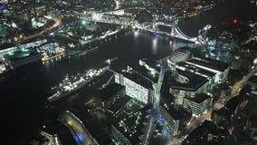 Ayuntamiento Londres y más orilla de Londres desde arriba almacen de video