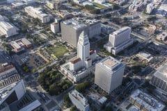 Ayuntamiento Los Ángeles de la visión aérea Fotografía de archivo