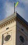 Ayuntamiento Lviv construyó en 1830-1845 la torre 65 m Fotos de archivo