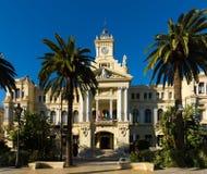 Ayuntamiento Malaga w słonecznym dniu Fotografia Royalty Free