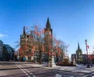 Ayuntamiento Manchester en Año Nuevo chino Fotografía de archivo