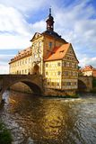 Ayuntamiento medieval en Baviera de Bamberg del puente Imagen de archivo libre de regalías