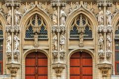 Ayuntamiento medieval en Lovaina Bélgica Imágenes de archivo libres de regalías