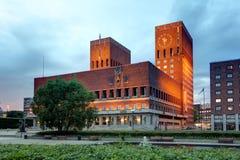 Ayuntamiento, Noruega Oslo fotografía de archivo libre de regalías