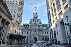Ayuntamiento Philadelphia - de la calle amplia del sur Fotografía de archivo