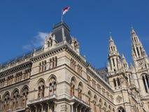 Ayuntamiento (Rathaus) de Viena, Austria Imagen de archivo libre de regalías