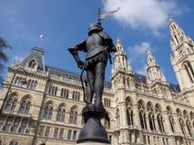 Ayuntamiento (Rathaus) de Viena, Austria Fotografía de archivo