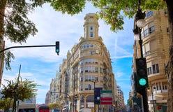 Ayuntamiento Square and San Vicente street Stock Photos