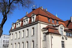 Ayuntamiento Swietochlowice Imágenes de archivo libres de regalías