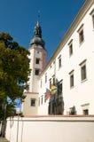 Ayuntamiento - torre Hranice de la entrada Imagenes de archivo