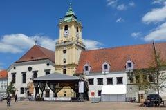 Ayuntamiento viejo de Bratislava - Eslovaquia foto de archivo