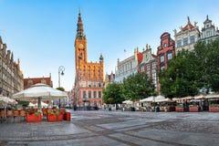 Ayuntamiento viejo de Gdansk, Polonia Imagen de archivo