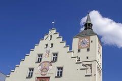 Ayuntamiento viejo en Deggendorf Imagenes de archivo