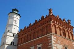Ayuntamiento viejo en Sandomierz, Polonia. Foto de archivo libre de regalías
