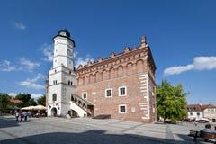 Ayuntamiento viejo en Sandomierz, Polonia fotografía de archivo libre de regalías