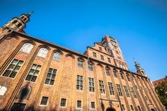 Ayuntamiento viejo en Torun es uno de los ejemplos más finos de medieval Fotografía de archivo libre de regalías
