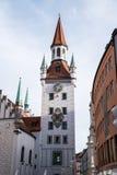 Ayuntamiento viejo situado en el cuadrado central de Munich, Alemania imagen de archivo