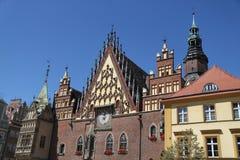 Ayuntamiento Wroclaw en Wroclaw, Polonia fotografía de archivo libre de regalías