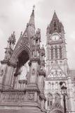 Ayuntamiento y Albert Memorial del noble, Albert Square, Mancheste Imagen de archivo libre de regalías